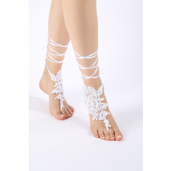 60567afa7 Free Ship white beach wedding barefoot sandals