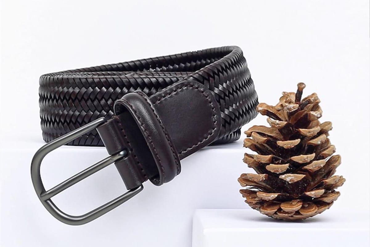 Anderson's Leder- und Flechtgürtel – Made in Italy - Titelbild