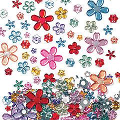 708 zelfklevende bloemenedelsteentjes