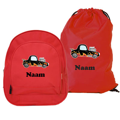 Backpack Kids and gym bag with name and picture