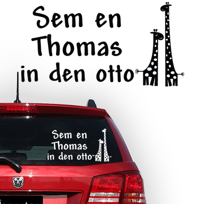 Gepersonaliseerde autosticker, model 80
