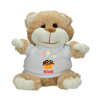 Cuddle toy with name - Cupcake first birthday