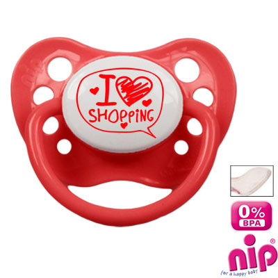 Pacifier 'I love Shopping'