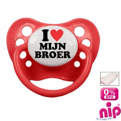 Fopspeen 'I love mijn broer'