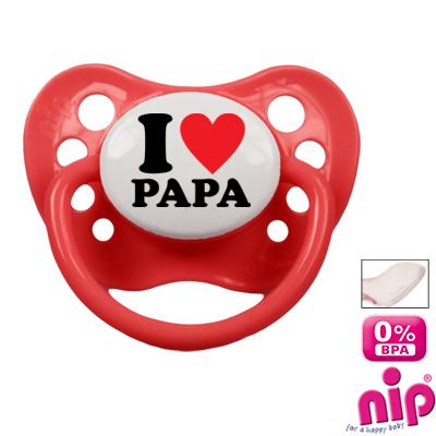 Tétine 'J'aime mon papa'
