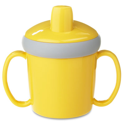 Mug d'apprentissage anti-goutte 200 ml - jaune
