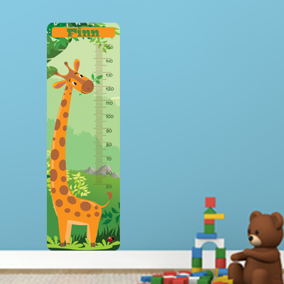 Groeimeter met naam - Giraf 150cm