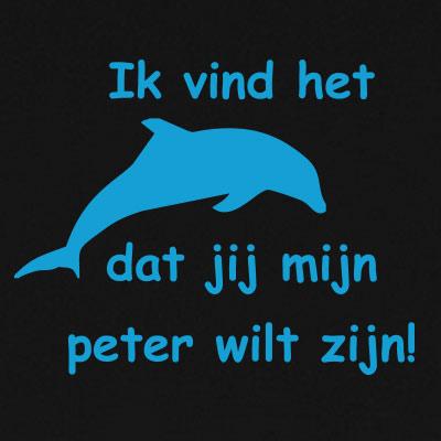 Ik vind het dolfijn dat jij mijn peter wilt zijn