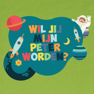 Wil jij mijn peter worden? (space)