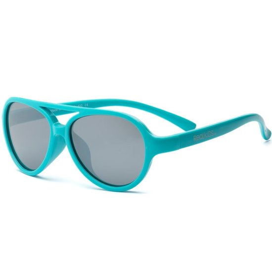 Real Kids - Sky - Lunettes de soleil enfant - protection 100% UVA & UVB - UV400 - Turquoise - taille 7 - 10 ans