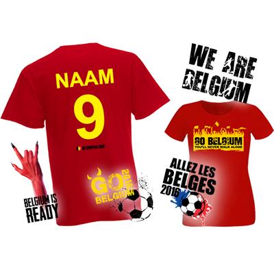 Go Belgium t-shirt met naam