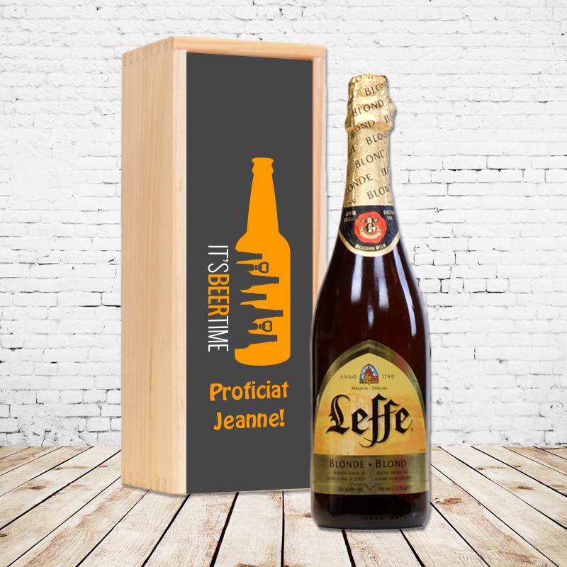 Gepersonaliseerd bierpakket met Leffe Blond