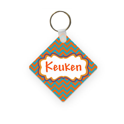 Key chain with name (square)