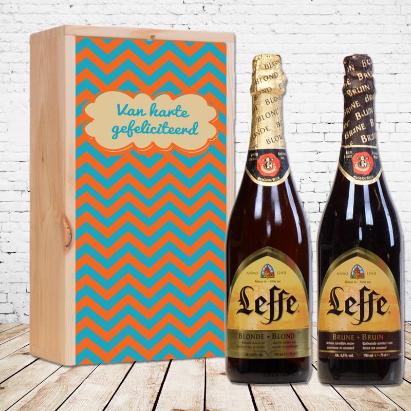 Coffret personnalisé pour Leffe blonde et  Leffe brune