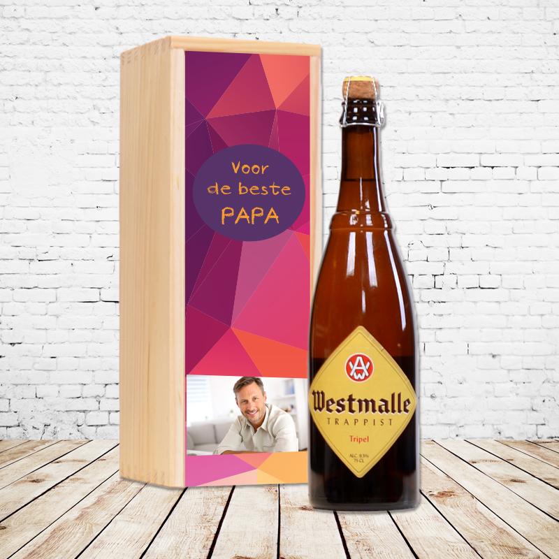 Gepersonaliseerd bierpakket met Westmalle Tripel