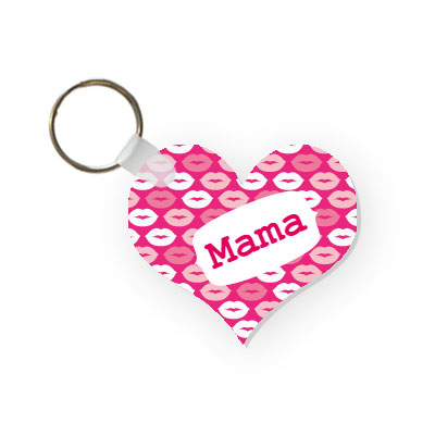 Key chain with name (heart)