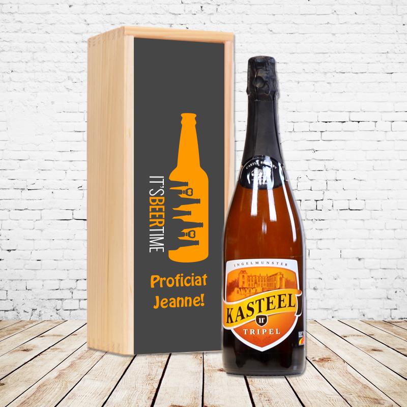 Gepersonaliseerd bierpakket met Kasteel Tripel
