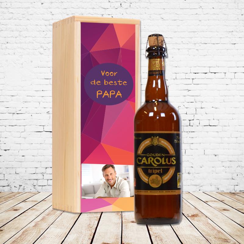 Gepersonaliseerd bierpakket met Gouden Carolus Tripel