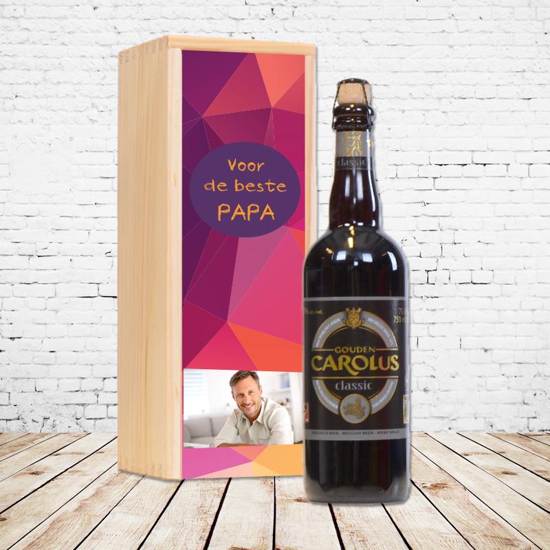 Gepersonaliseerd bierpakket met Gouden Carolus Classic