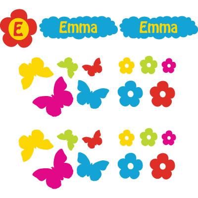 Stickerkit : Bloemen & Vlinders