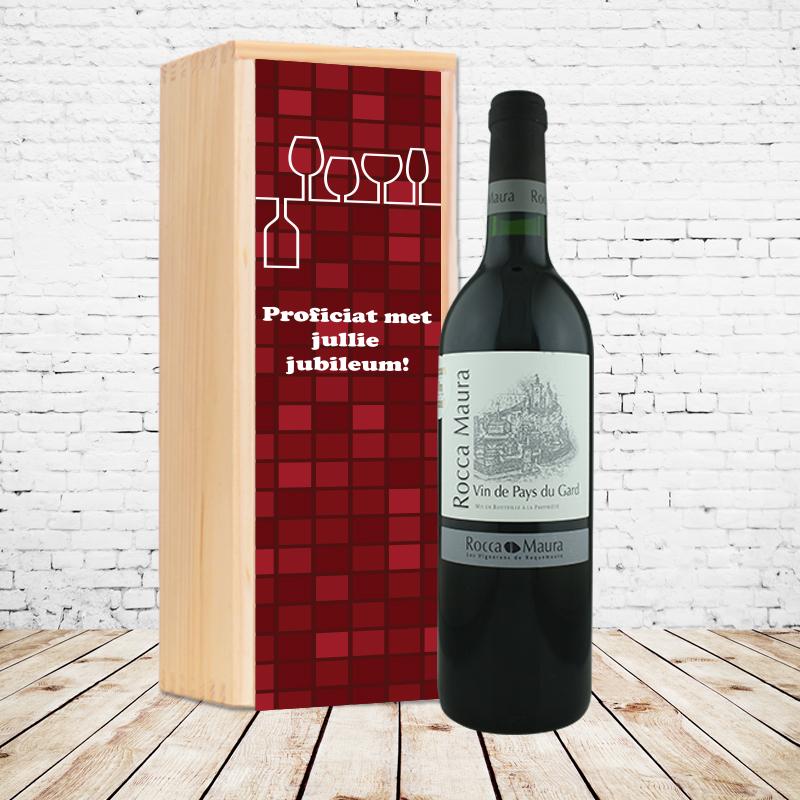 Gepersonaliseerd wijnpakket Rocca Maura Rood
