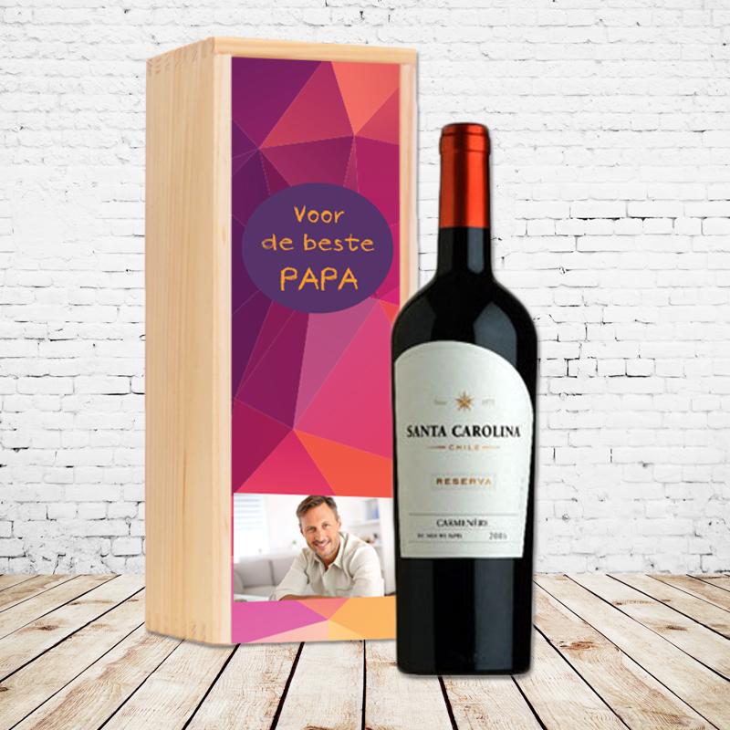 Gepersonaliseerd wijnpakket Santa Carolina (rood)