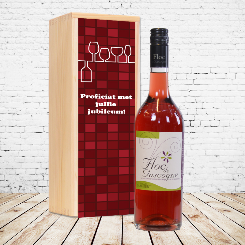 Gepersonaliseerd wijnpakket Floc de Gascogne (rood)