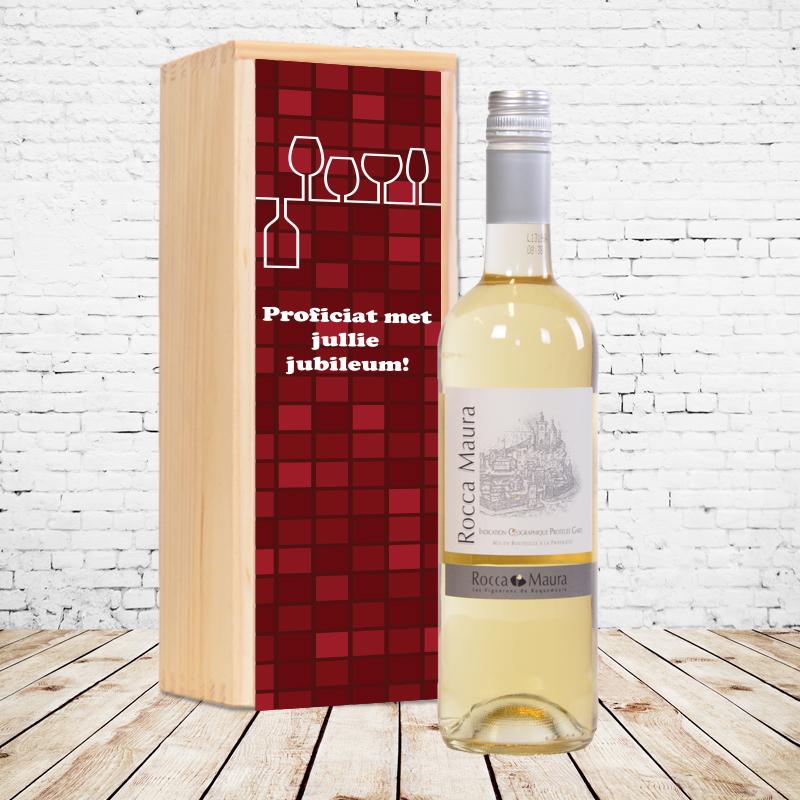 Gepersonaliseerd wijnpakket Rocca Maura (wit)