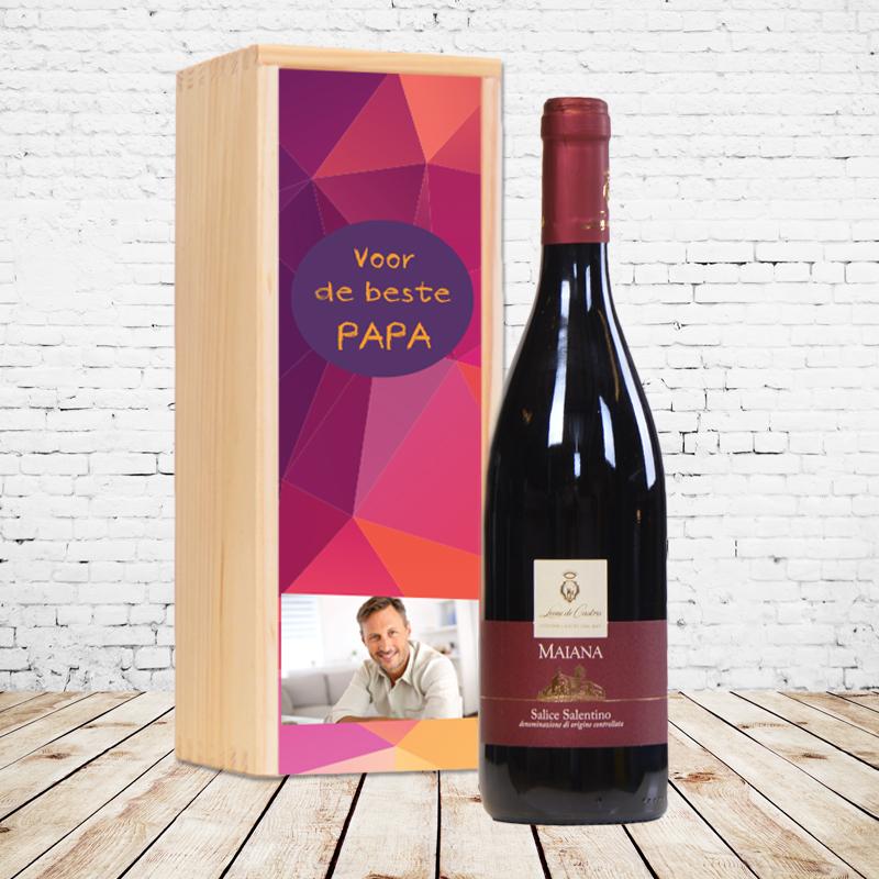 Gepersonaliseerd wijnpakket Maiana rosso - Salice Salentino