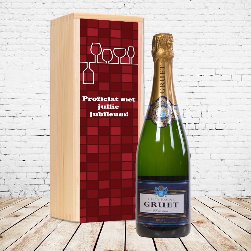 Coffret à champagne gruet Brut personnalisé