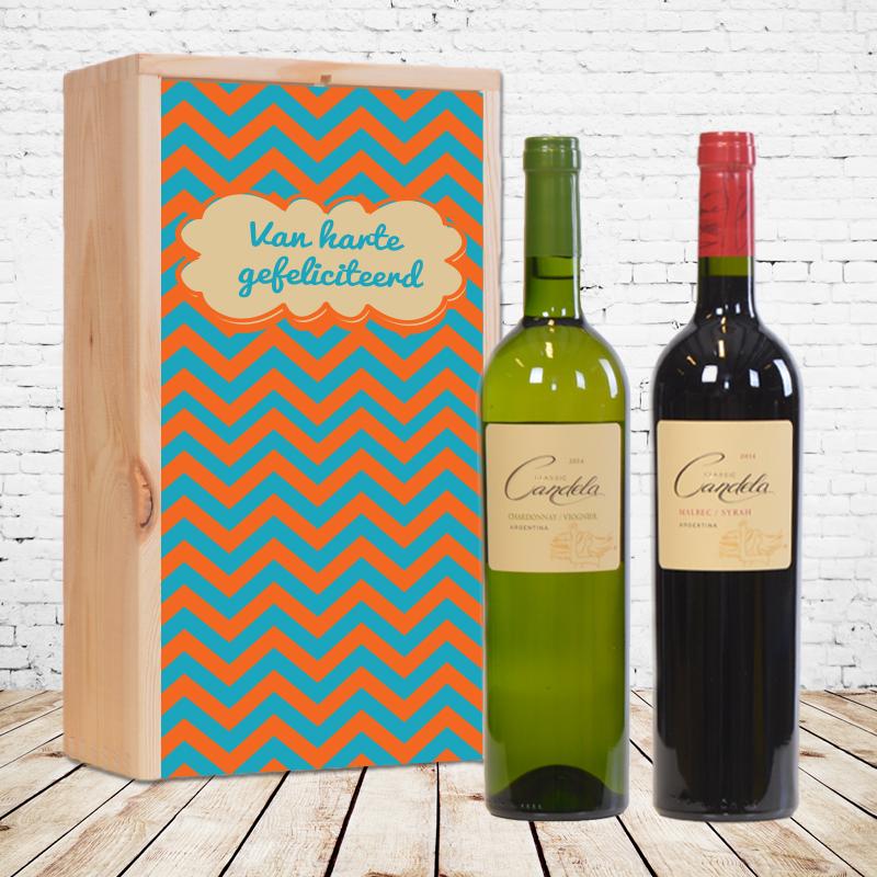 Gepersonaliseerd wijnpakket Candela Classic Chardonnay / Viognier & Candela Classic Malbec