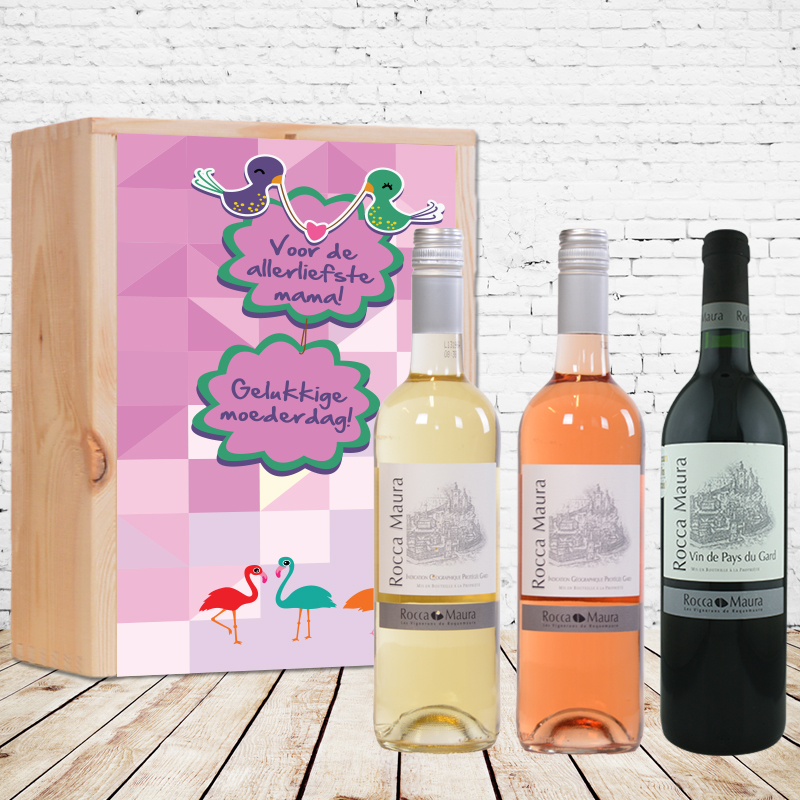 Coffret à vin Rocca Maura (rouge, rosé et blanc) personnalisé