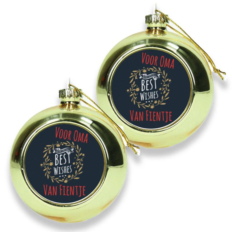 Gepersonaliseerde kerstbal (2 stuks)