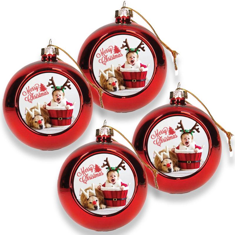 Gepersonaliseerde kerstbal (4 stuks)