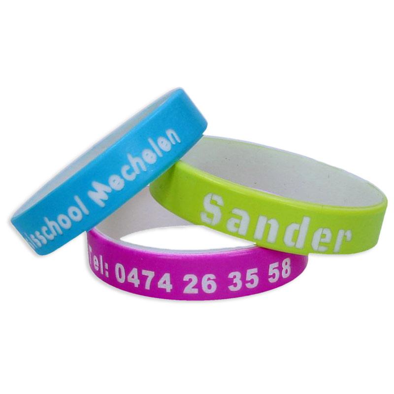 Bracelet silicone avec nom