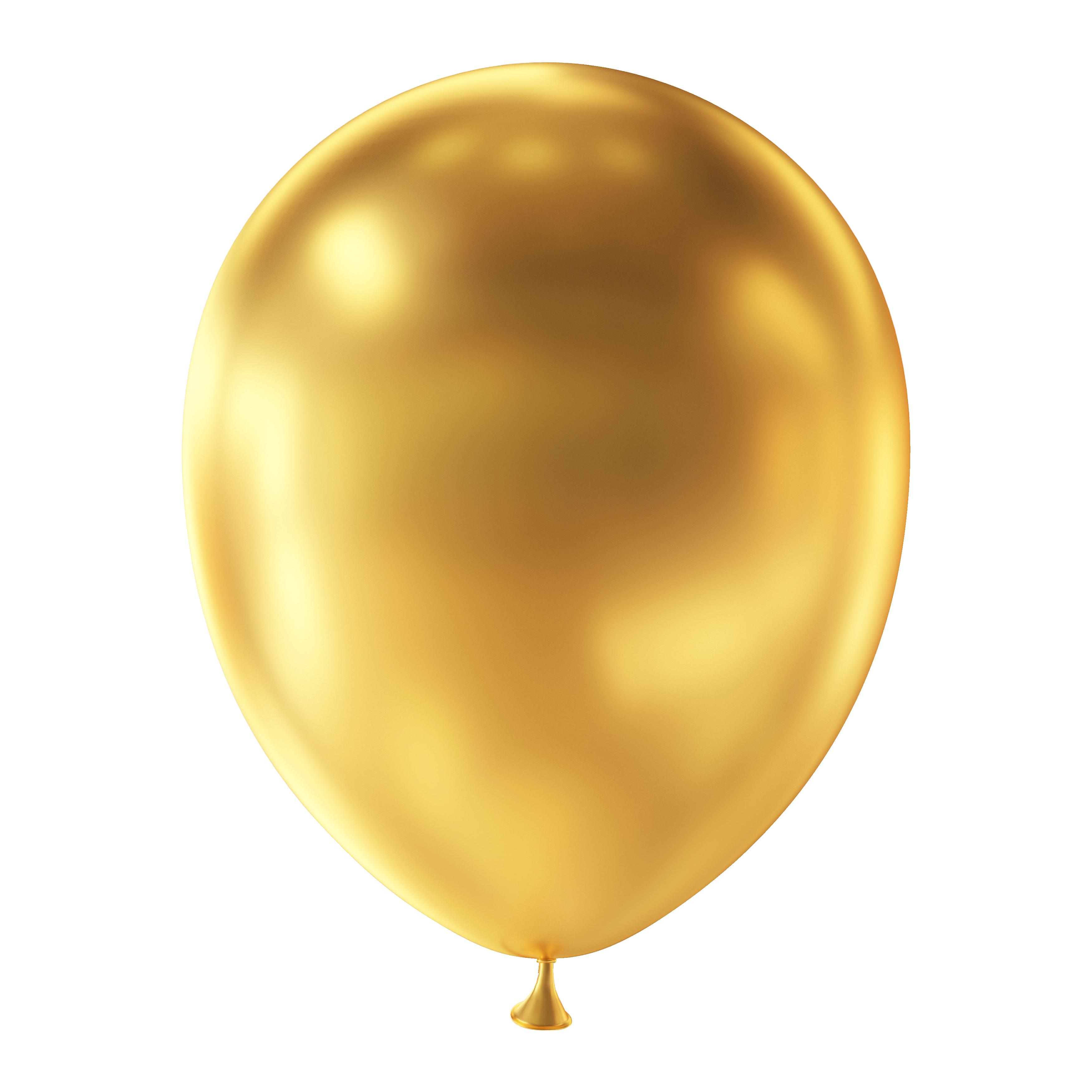 Set van 10 ballonnen - metallic goud (30 cm)