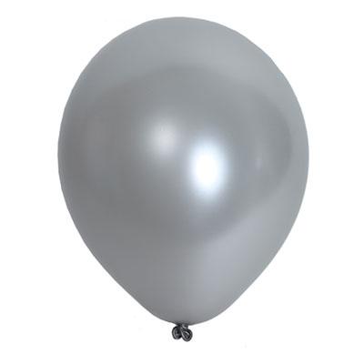 10 ballons argent metallic (30 cm)
