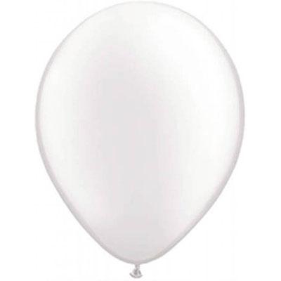 Set van 10 ballonnen - wit (30 cm)