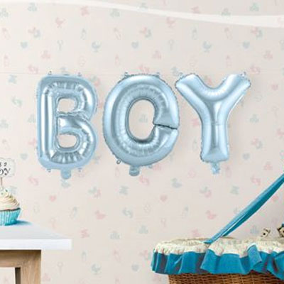 Folieballonnen kit - Boy lichtblauw