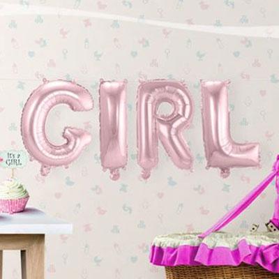 Folieballonnen kit - Girl roze