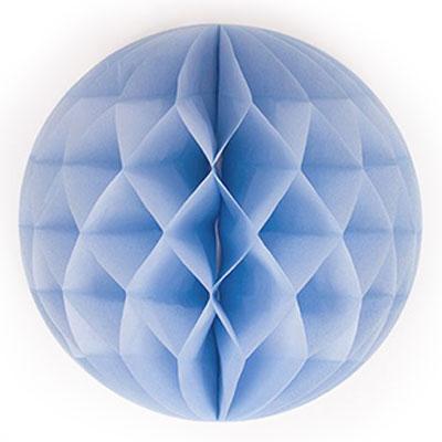 Honeycomb rond - lichtblauw 50 cm