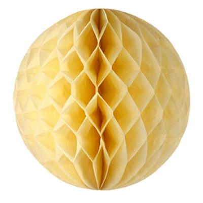 Honeycomb rond - ivoor/zacht geel 30 cm