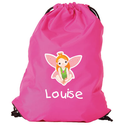 Gymnastics bag with name - Green