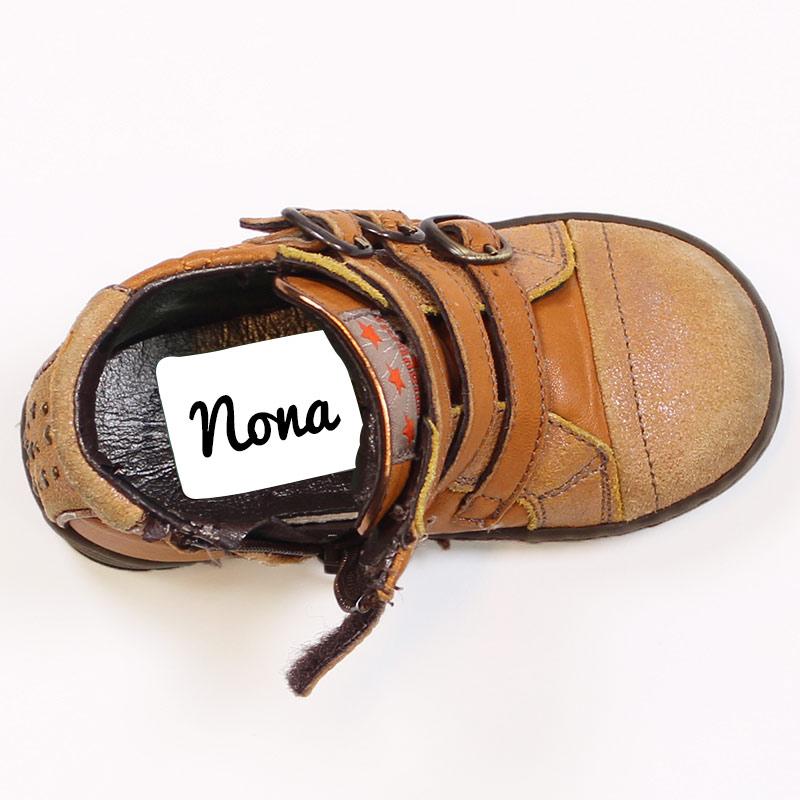 20 étiquettes de chaussures (3,8 x 2,8 cm)