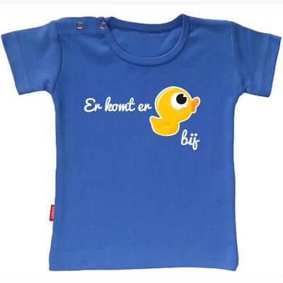 T-shirt Ik Word Grote Broer - Er komt er eentje bij (RoyalBlue 3-4j)