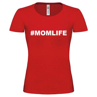T-shirt met tekst of afbeelding - ronde hals (vrouwen)
