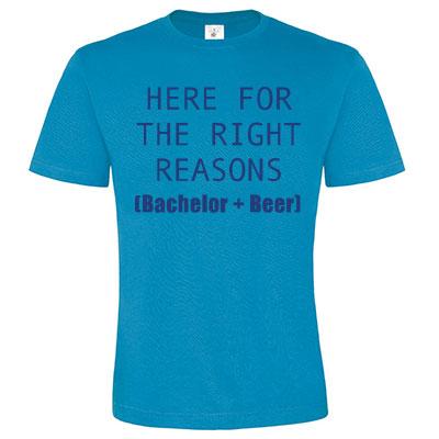 T-shirt met tekst of afbeelding - ronde hals (mannen)