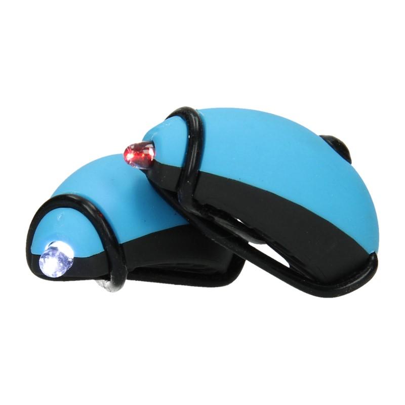 Set LED-fietslampen Blauw
