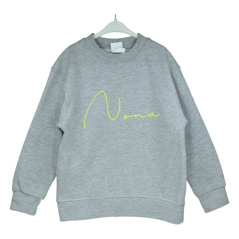 LIMITED EDITION Sweater met naam - Super Fluo