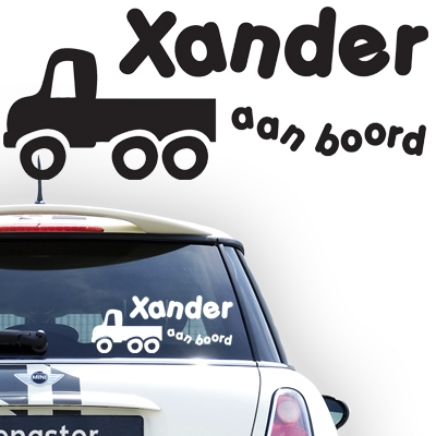Gepersonaliseerde auto sticker, model 56